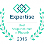 Best acupuncturist in Phoenix award badge